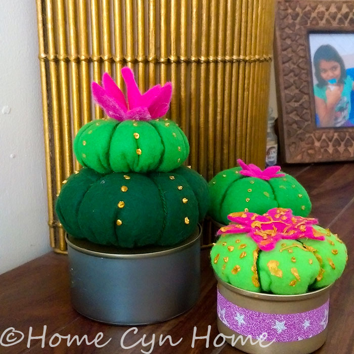 make several of these cute cacti and arrange them in a group to create an interesting vignette