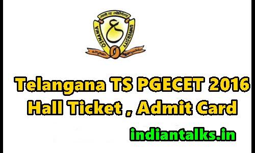 Telangana-TS-PGECE-2016-Hall-Ticket