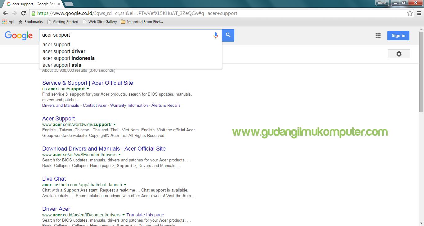 Cara Download Driver Acer Original - GUILKO