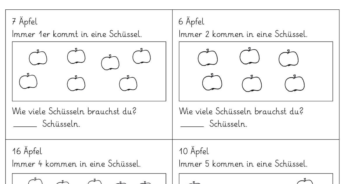 Lernstübchen: 7 Arbeitsblätter zum Aufteilen
