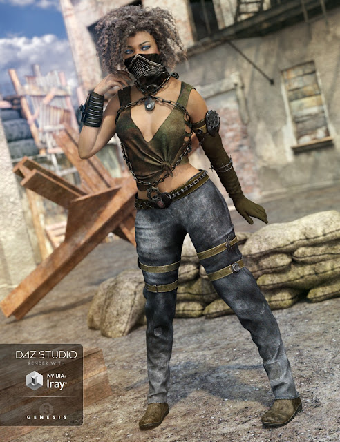 Eternal Desert Warrior Outfit for Genesis 3 Female