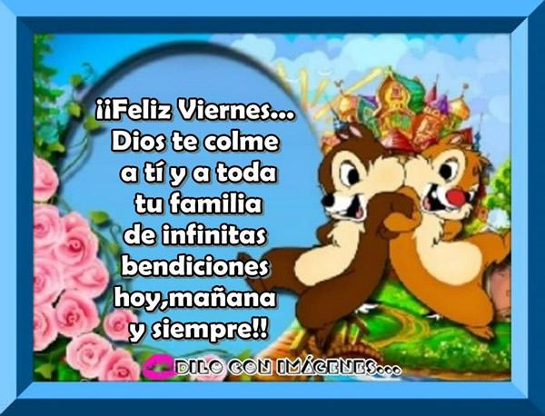 infinitas bendiciones feliz viernes