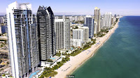 Sunny Isles Beach is home to $10 billion in property, including six Trump-branded buildings (Credit: Alamy) Click to Enlarge.