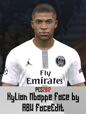 PES 2017 Faces Kylian Mbappé by ABW_FaceEdit