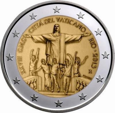 2 euro Vatican City 2013, 28th World Youth Day - Rio de Janeiro