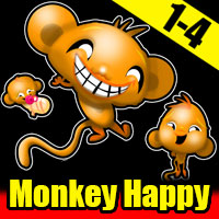 Monkey Happy 1 - 4 Walkth…