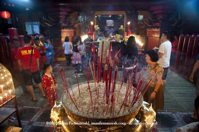 Foto  Suasana Malam Pergantian Tahun di  Vihara Widhi Sakti sukabumi