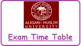 Aligarh Muslim University Date Sheet 2020