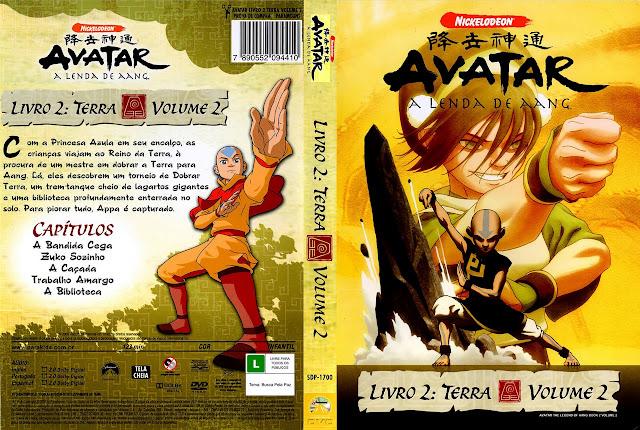 Capa DVD AVATAR A LENDA DE AANG LIVRO 2: TERRA VOLUME 2