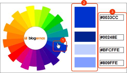 Generator Pelacak Kode Warna Serasi untuk Blog