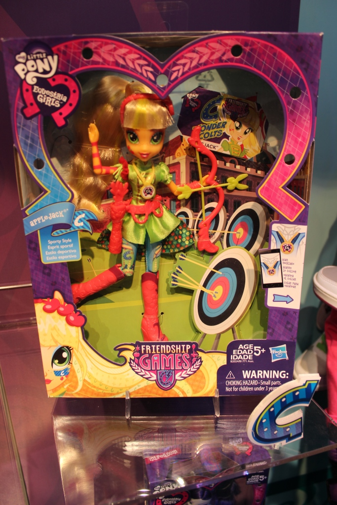 Equestria Girls Friendship Games Applejack Archery Doll at NY Toy Fair 2015