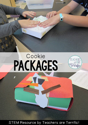 STEM Challenge for December: Design a package to transport cookies for a Christmas gift! Check this blog post for more!