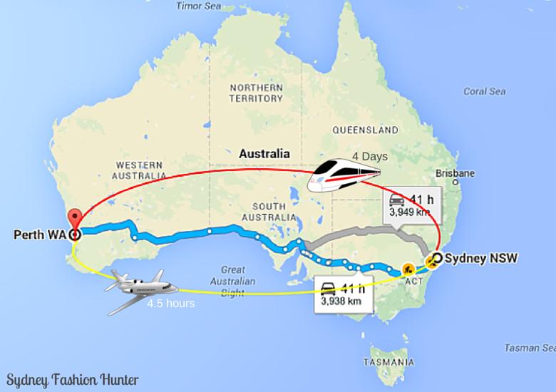 Sydney Fashion Hunter: Map Sydney To Perth