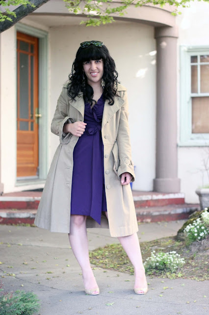 Spring Dress and a Trench Coat