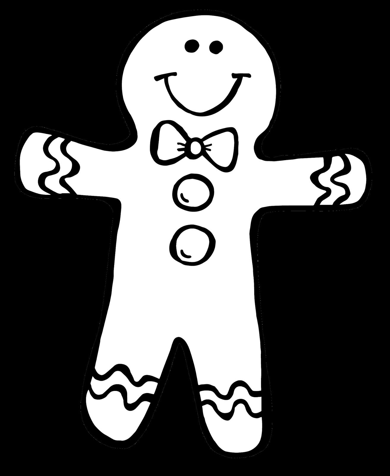 Art Gingerbread Clip Outline Man