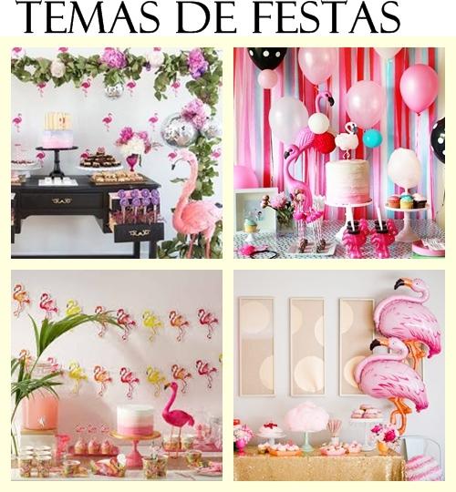 Tema de festa flamingos