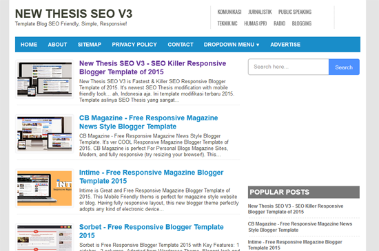 Template Thesis SEO Responsive V3