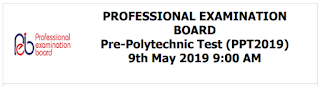 MP Pre-Polytechnic Test (PPT) 2019 Model Answer Key – Held on 09/05/2019