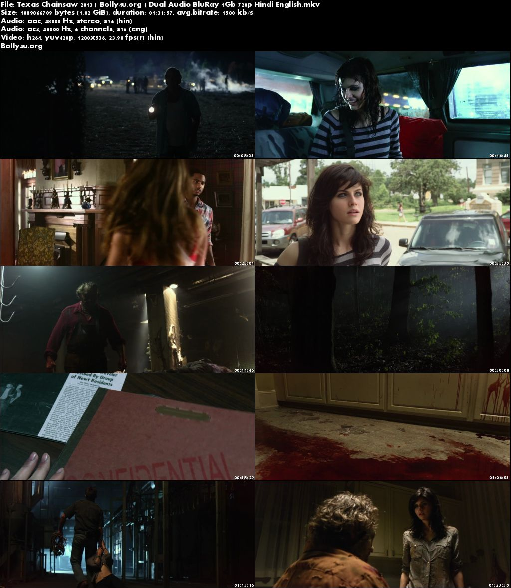 Texas Chainsaw 2013 BluRay 1Gb Hindi Dual Audio 720p Download