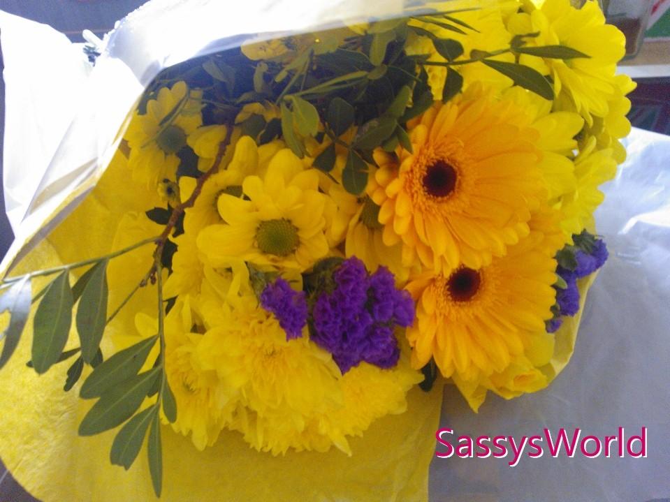 Sassys World: Flowers from Tesco