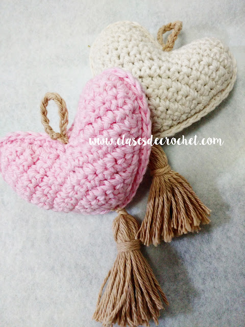 corazón crochet patron