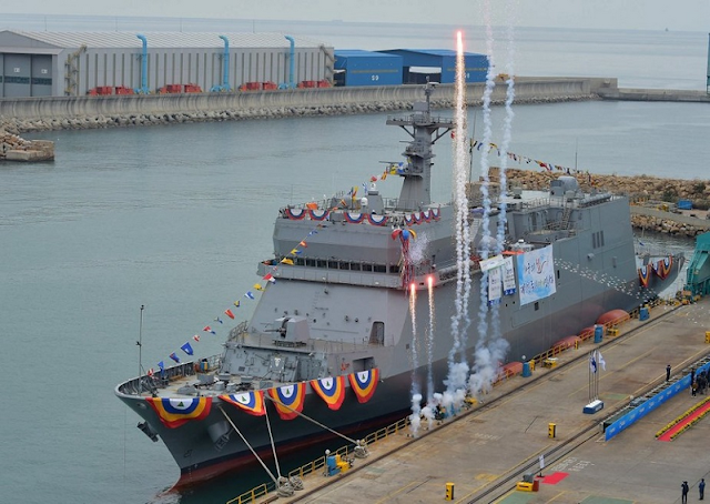 Image Attribute: The launch ceremony of Hansando ATH-81 ship, a photo provided by the Republic of Korea Navy / Source: Yonhap News Agency
