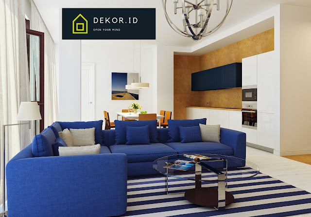 Dekorasi rumah minimalis warna biru
