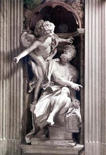 Nomes bíblicos estrangeiros masculinos com H - Imagem: Profeta Habacuque e o anjo - Bernini