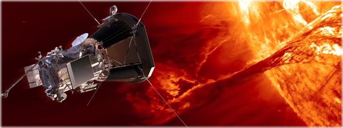 sonda parker solar probe durante sua primeira máxima aproximação com o Sol