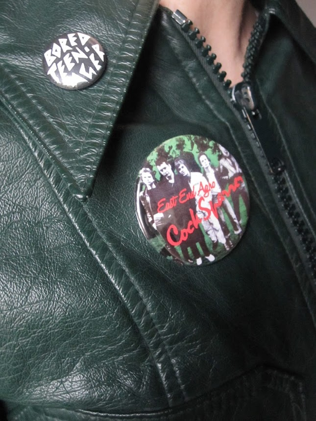 badge Cock Sparrer ( et The Adverts )