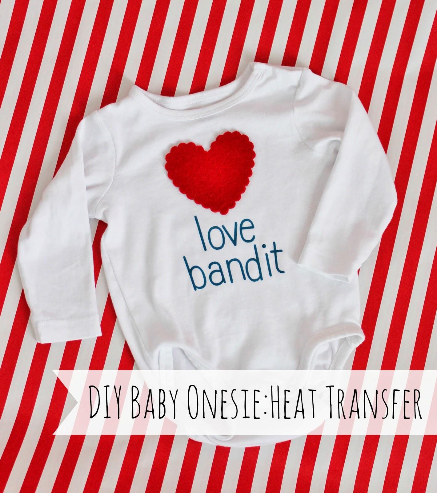 heat transfer vinyl baby onesie