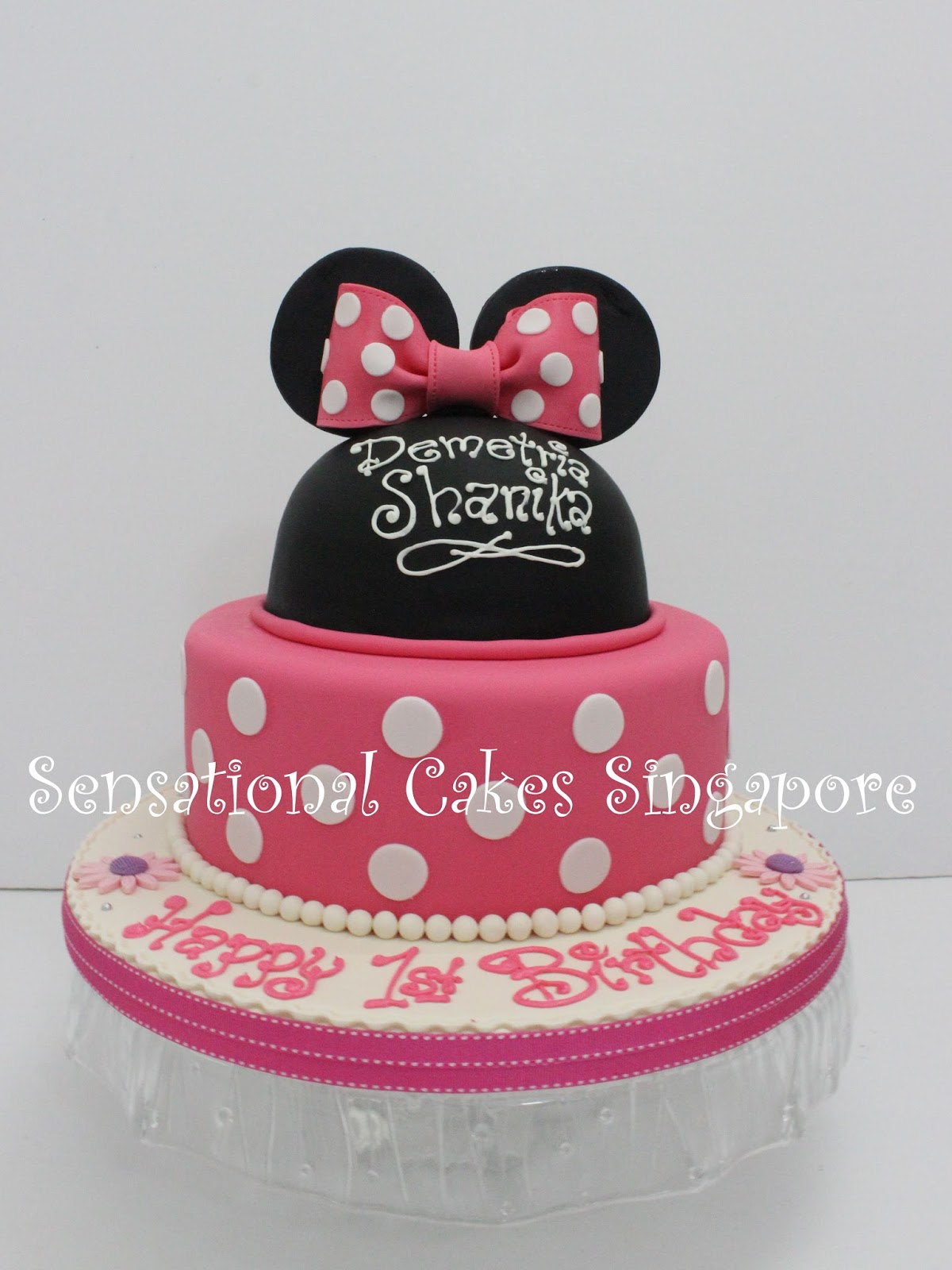 Cakes2share Singapore Minnie Mouse Silhouette Inspired Theme Cake