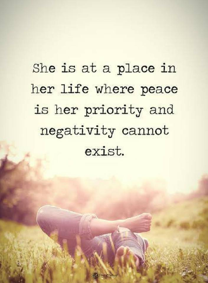 Quotes She Is At A Place In Her Life Where Peace Is Her Priority