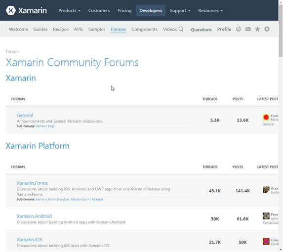 Xamarin Forum