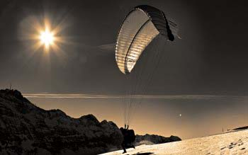 Wallpaper: Paragliding Flight