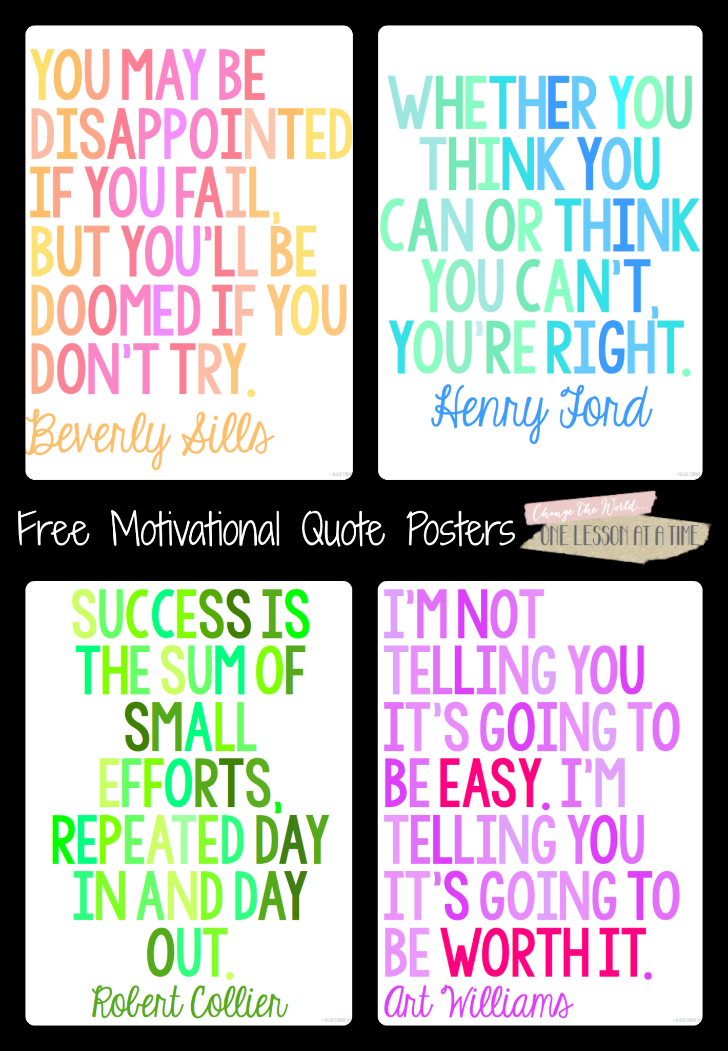 Positive Motivational Quotes For Students: Motivational Quotes For State Testing {Free Posters