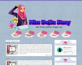 Design Baru Blog Miss Banu Story Bermula 11 Feb 2017