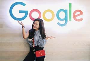 Beby Tsabina di Kantor Google