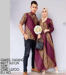 desain baju batik muslim modern