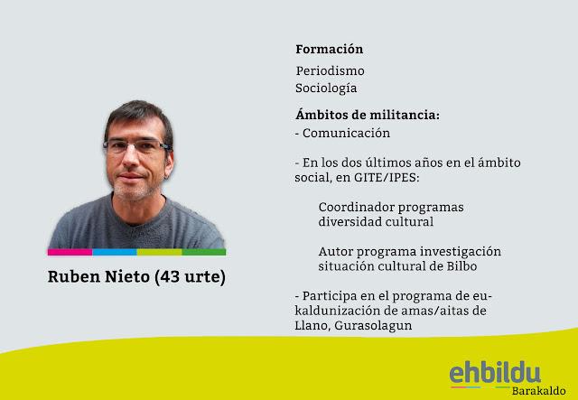 Ficha de Rubén Nieto difundida por EH Bildu