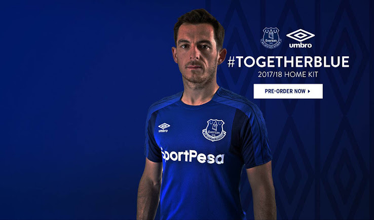 best service bc22b 9e940 Everton 17-18 Home Kit Released - Footy Headlines
