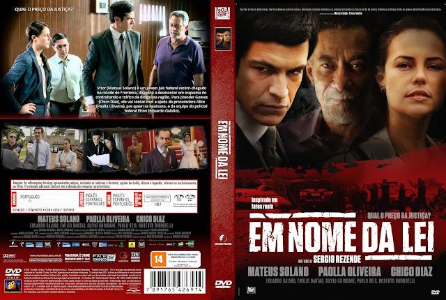 Capa DVD Em Nome Da Lei