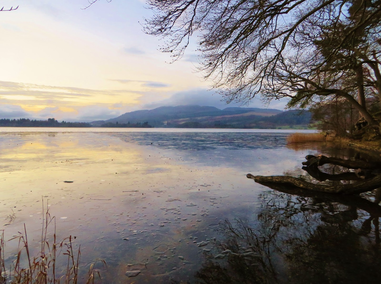 Lake of Menteith, Hairy Coo Tour, Ice lake, Scotland, Menteith, sunset