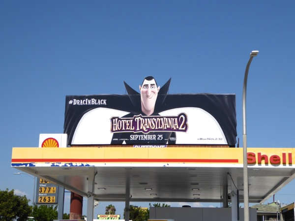 Hotel Transylvania 2 Drac in black billboard