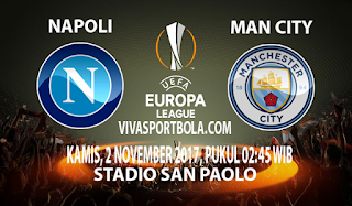 Prediksi Napoli vs Manchester City 2 November 2017