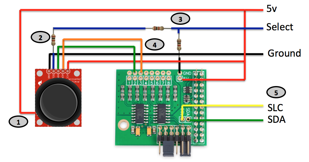 Analog Joystick Wiring Diagram The Making Of A Maker Integrating A Joystick Via I2c With
