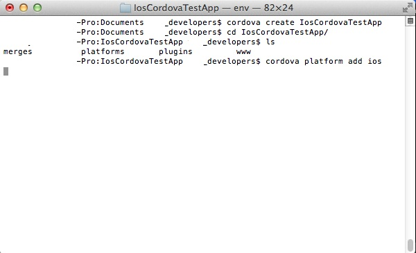 Coding Square: Setting up Apache Cordova iOS project on XCode