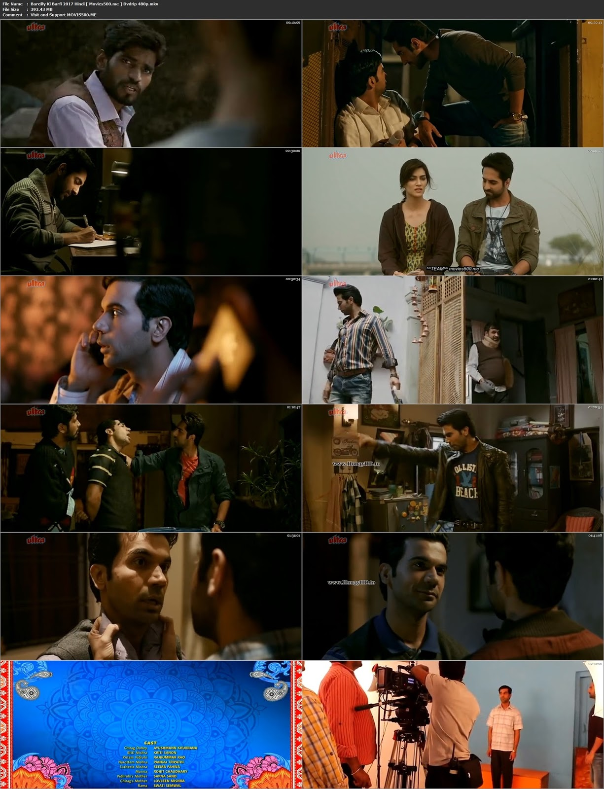 Bareilly Ki Barfi 2017 Bollywood 393MB DVDRip 480p