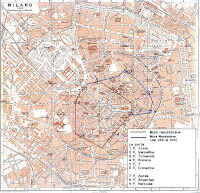 map of the Roman Walls of Milan
