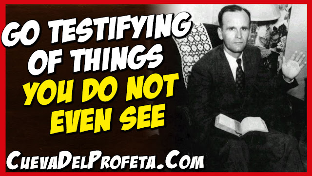Go testifying of things you do not even see - William Marrion Branham Quotes